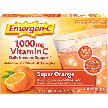 Emergenc Everyday Immune Support Fizzy Drink Mix Super Orange