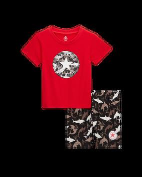 Converse Shark Bite T-Shirt & Shorts