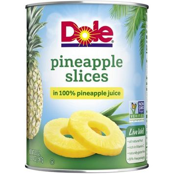 Dole Canned Pineapple Slices in 100% Pineapple Juice