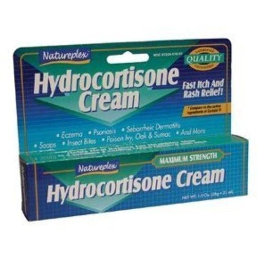 Natureplex Hydrocortisone 1% Cream - 3 tube pack - 1 oz tubes