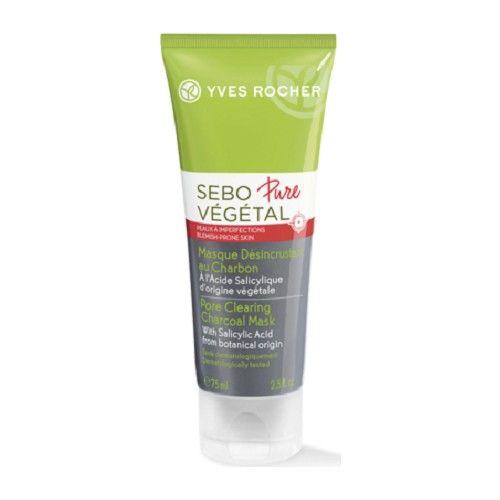 Yves Rocher Sebo Pure Végétal Charcoalore Mask Moisturizing Cleanser,scrub Set