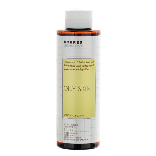 KORRES Sage and Salicylic Acid Regulating Gel for Face and Body for Oily Skin