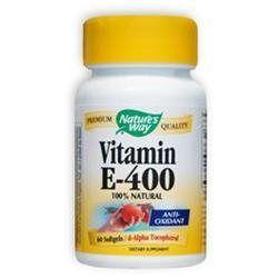tures Way Nature's Way Vitamin E-400 - 400 IU - 60 Softgels