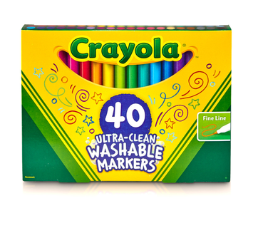Crayola Ultra Clean Markers, Fine Line