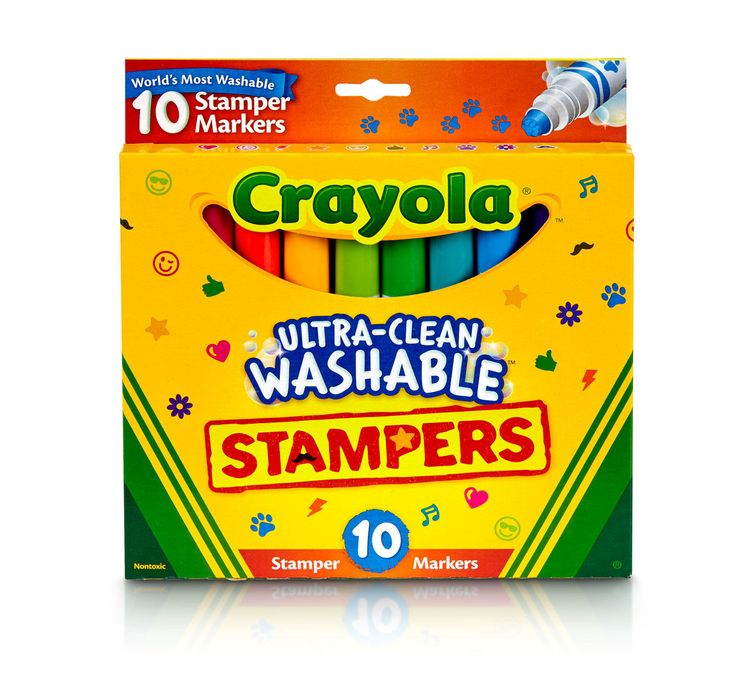Crayola Ultra Clean Stamper Markers, 10 Count
