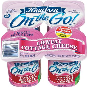 Knudsen On the Go! Low-fat Cottage Cheese 4 oz 4 pk