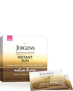 Jergens Natural Glow Instant Sun Sunless Tanning Towelettes