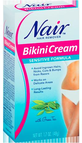 tea cream hair green bikini remover Nair sensitive formula with