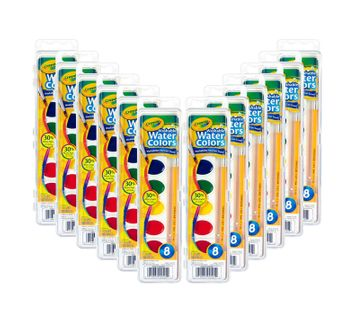 Crayola Washable Watercolors, 12 Count, 8 Colors
