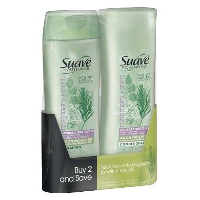 Suave Shampoo/Conditioner Rosemary Mint Twin Pack 25.2oz