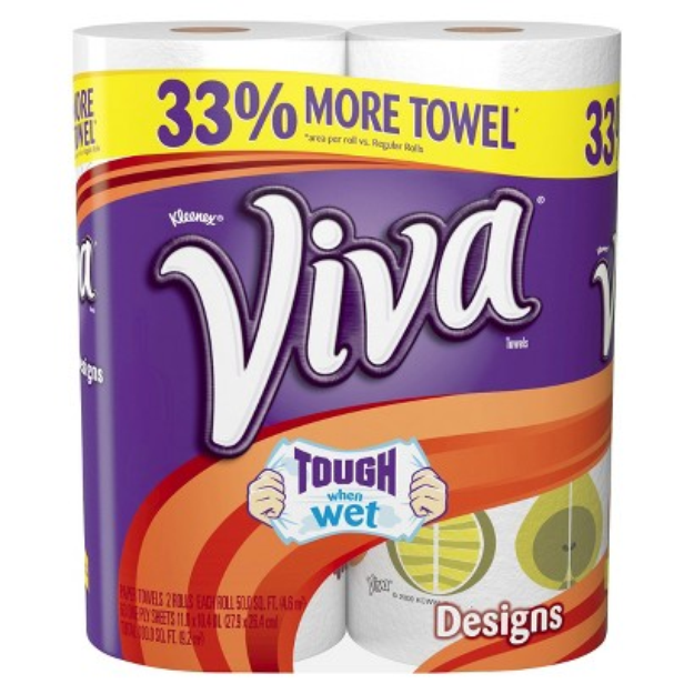 Viva Printed Paper Towels 2 Regular Rolls