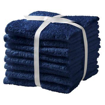 Feroze Textile Room Essentials 8-pk. Washcloth Set - Admiral Blue