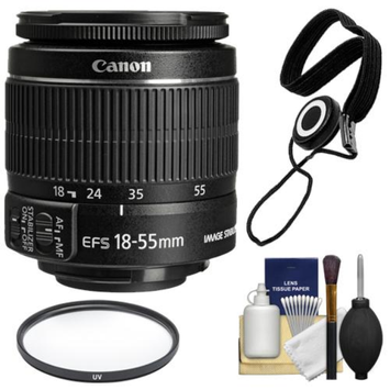 Canon EF-S 18-55mm f/3.5-5.6 IS II Zoom Lens + Accessory Kit for EOS 70D, 7D, Rebel T3, T3i, T4i, T5, T5i, SL1 DSLR Cameras