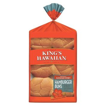 King's Hawaiian Sweet Hamburger Buns 6ct