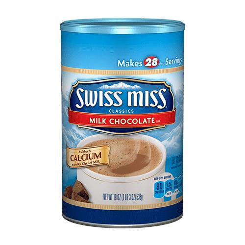 Swiss Miss Milk Chocolate Canister Calcium