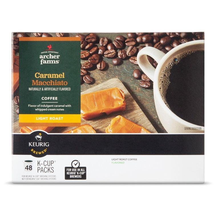 Mother Parkers Tea & Coffee Inc. Light Roast Caramel Macchiato Single Cups 48ct - Archer Farms