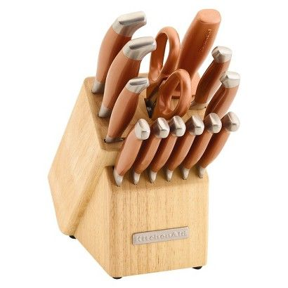 KitchenAid 14 Piece Copper Pearl Cutlery Set with Endcap