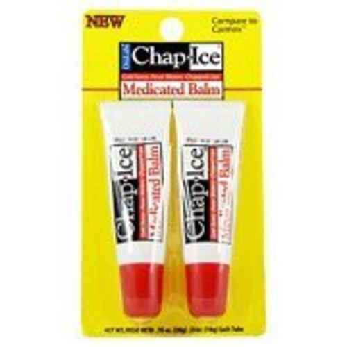 Oral Labs Chap Ice Medicated Balm - For Cold Sores, Fever Blisters & Chapped Lips, 2 pk,(OraLabs)