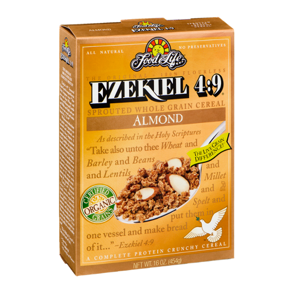 Food For Life Ezekiel 4:9 Sprouted Whole Grain Cereal Almond