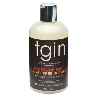 tgin Moisture Rich Sulfate Free Shampoo - 14.5 oz