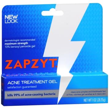 ZAPZYT Maximum Strength 10% Benzoyl Peroxide Acne Treatment Gel