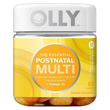 Olly The Essential Postnatal Multi-Vitamin Citrus Bliss Gummies - 60 Count