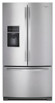 Whirlpool® 36 inch Wide French Door Bottom Freezer Refrigerator with StoreRight System 27cu. ft.