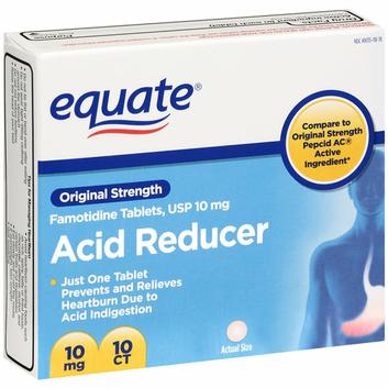 Equate Original Strength 10mg Acid Reducer Tablets