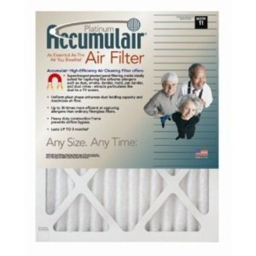 27x27x1 (26.5 x 26.5) Accumulair Platinum 1-Inch Filter (MERV 11) (4 Pack)