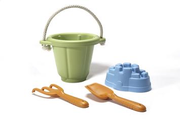 Slide: Green Toys Sand Play Set - Green - 1 ct.
