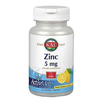Kal - Zinc ActivMelt Sweet Lemon 5 mg. - 60 Tablets