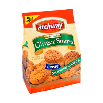 Archway Reduced Fat Ginger Snaps Crispy Snacking Cookies