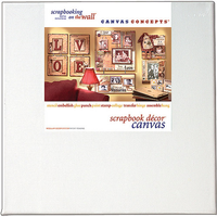 "Canvas Concepts Fancy Blank Canvas with Frame - White 8""X12"" (2 pack)"