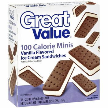 Great Value 100 Calorie Minis Vanilla Ice Cream Sandwiches