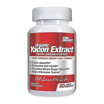 Top Secret Nutrition - Organic Yacon Extract with Green Coffee - 60 Vegetarian Capsules