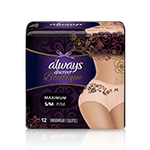 ALWAYS DISCREET Boutique Incontinence Underwear, Peach - Small / Medium