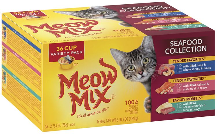Meow Mix® Seafood Collection Wet Cat food Variety Pack,