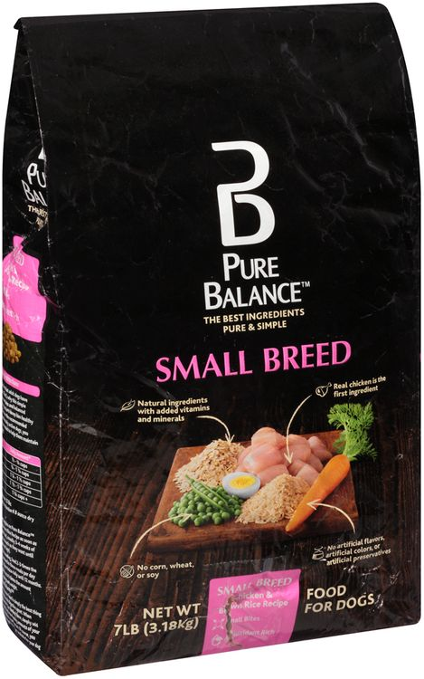 pure balance™ small breed chicken & brown rice recipe dog food