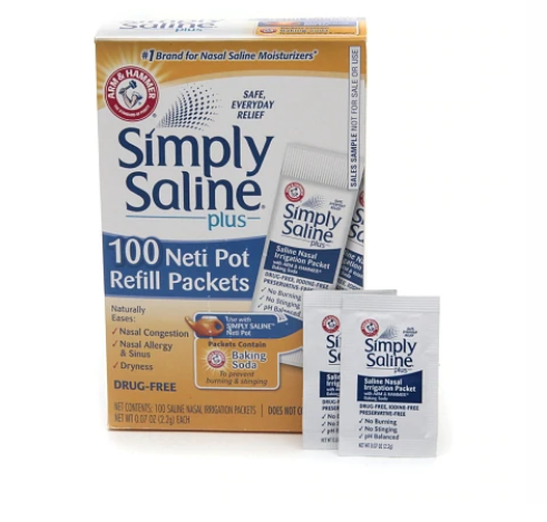 Simply Saline™ Neti Pot 100 Count Saline Refill Packets