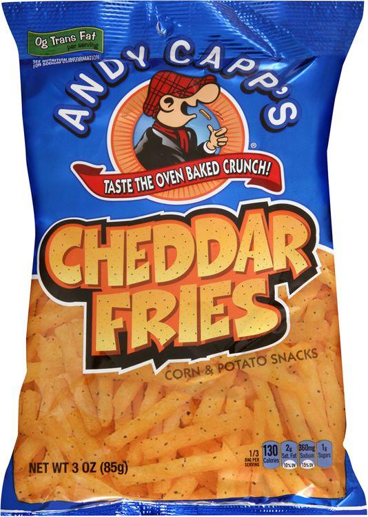 andy capp's® cheddar fries corn & potato snacks