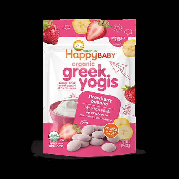 Happy Baby® Organics Strawberry Banana Greek Yogis