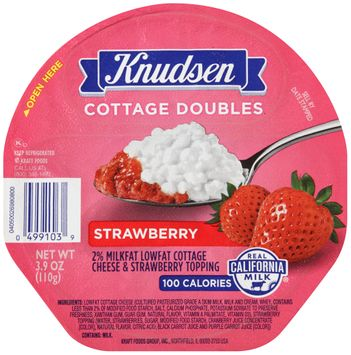 Knudsen Cottage Doubles Cottage Cheese & Strawberry Topping