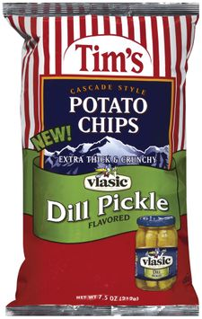 TIM'S Extra Thick & Crunchy Dill Pickle Flavored Potato Chips