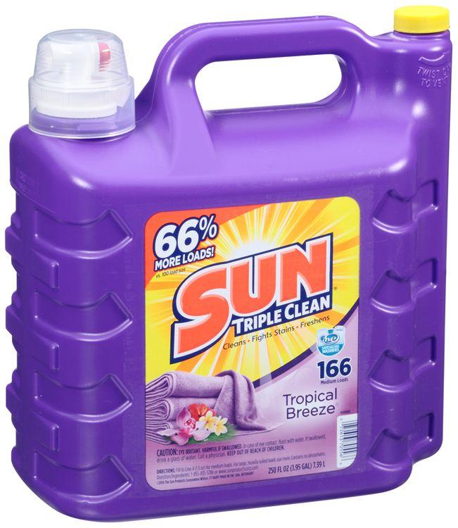 Sun Triple Clean® Tropical Breeze® Liquid Laundry Detergent