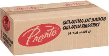 Pronto™ Strawberry Water Based Gelatin Dessert 2 Boxes
