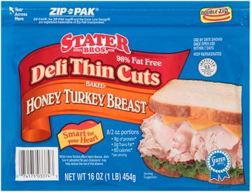 Stater bros® Deli Thin Cuts Baked Honey Turkey Breast