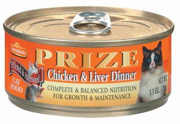 Springfield Prize Chicken & Liver Dinner Cat Food