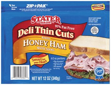 Stater bros Baked Honey Deli Thin Cuts Ham