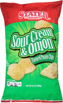 Stater bros Sour Cream & Onion Flavored Potato Chips,