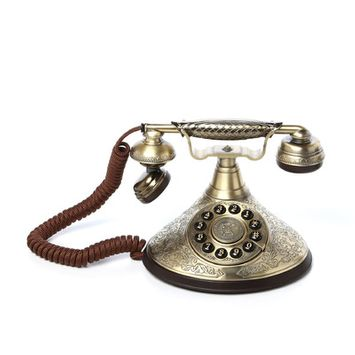 Design Toscano Versailles Telephone in Polished Brass